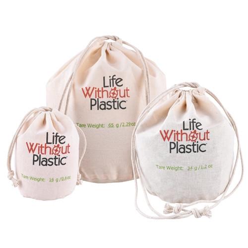 Organic Cotton Flat-Bottom Bulk Bag -  Three sizes