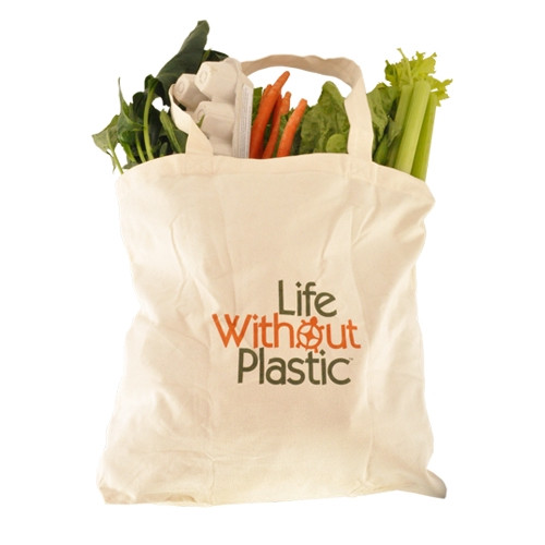 Organic Cotton Plastic Free Portable Shopping Bag