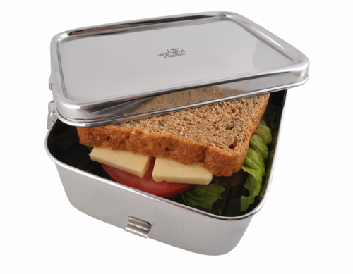 Stainless Steel Rectangular Airtight Sandwich Food Container - 900 ml / 30 oz