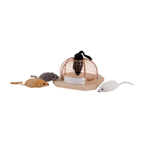 Humane Wood and Metal Mousetrap