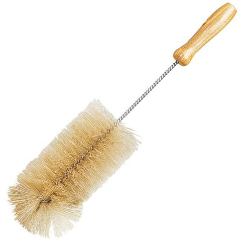 Plastic-Free Water Bottle Cleaning Brush with Metal Handle