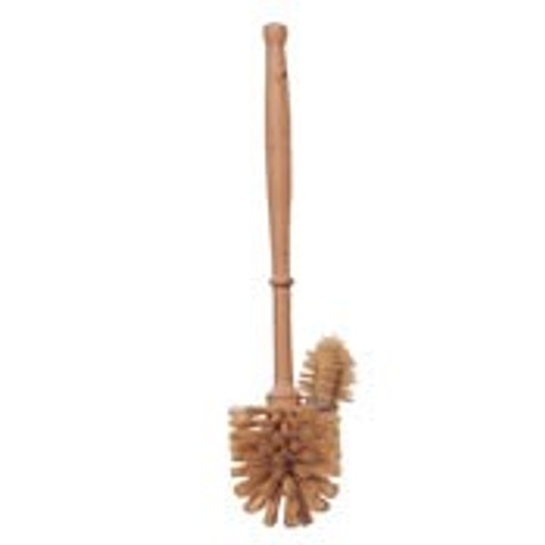 Plastic-Free Wooden Toilet Brush with Edge Cleaner - Medium Bristles