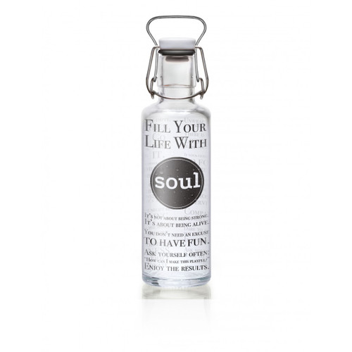 Glass plastic-free soulbottle 0.6 L - Fill your Life with Soul