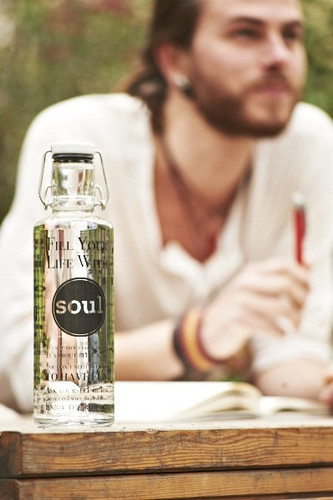 SALE - Glass plastic-free soulbottle 0.6 L - Fill your Life with Soul