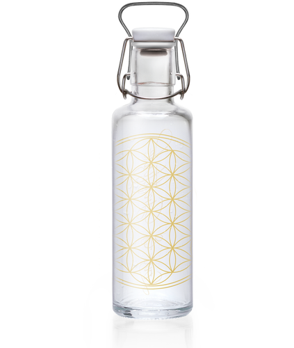 Glass plastic-free soulbottle 0.6 L - Love and Gratitude