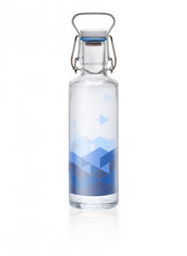 Glass plastic-free soulbottle 0.6 L - Into the Blue Blue Sea