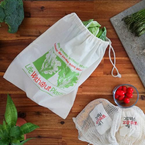 Organic cotton greens bag context