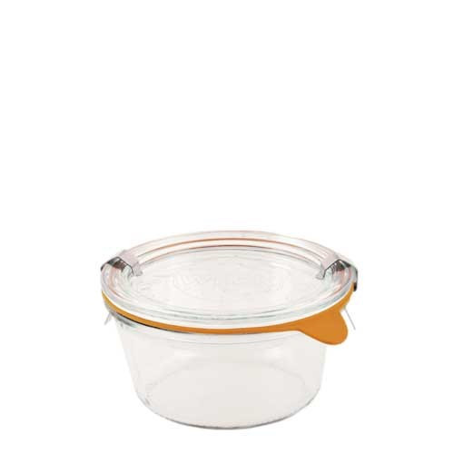 SALE - Weck Glass Short 1/5 L Mold Canning Jar (#740) - 290 ml / 9.8 fl oz