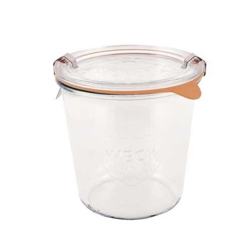 SALE - Weck Glass 1/2 L Mold Canning Jar (#742) - 580 ml / 19.6 fl oz