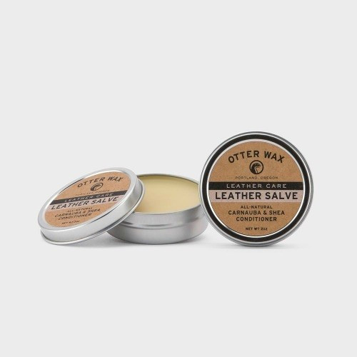 Natural Leather Salve in Plastic-Free Tin - 59ml / 2oz
