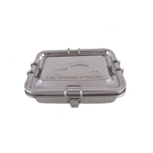 Stainless steel container with one divider  - Closed