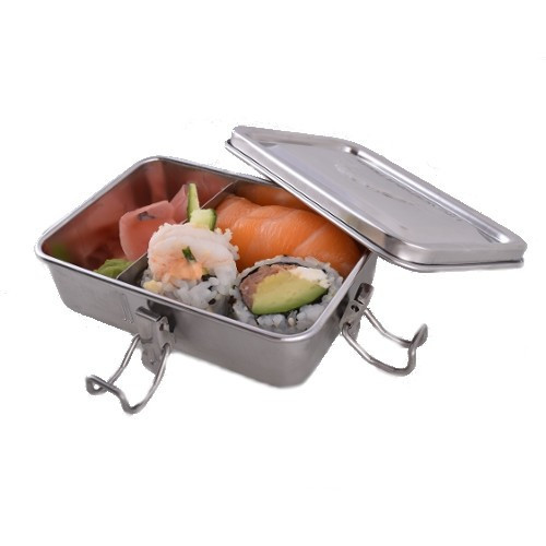 Stainless steel container with one divider - Open