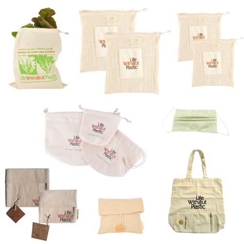ultimate grocery shopping bag kit