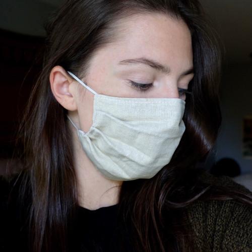 Linen cotton mask