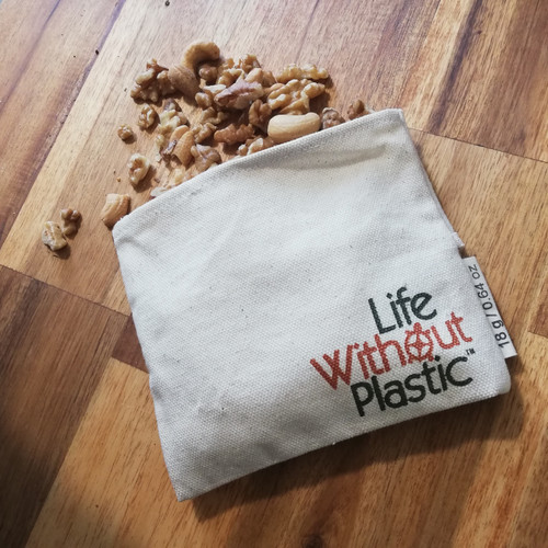 organic cotton flip bag for nuts