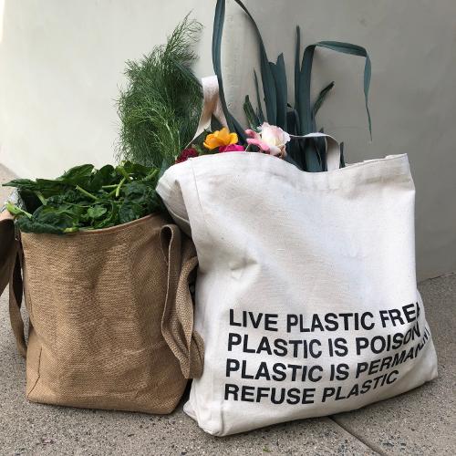 Reusable PPC tote bag