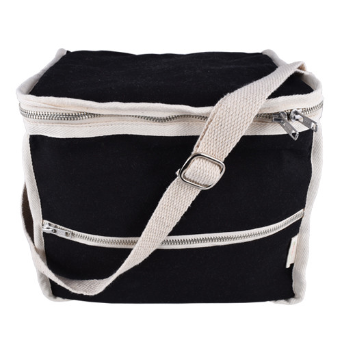 Black rectangular lunchbag - main
