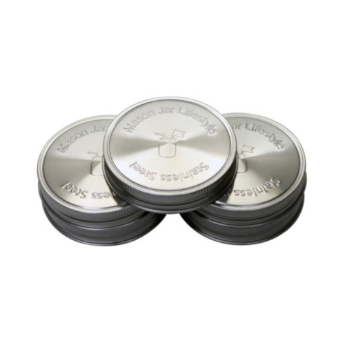 Stainless steel lids regular 3 pack