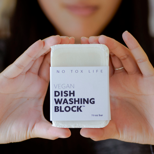 Plastic-Free All-Natural Dish Soap Bar - context