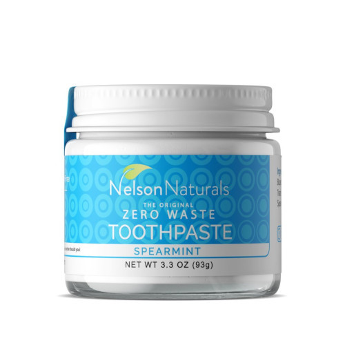 Natural Toothpaste in a Glass Jar - Spearmint