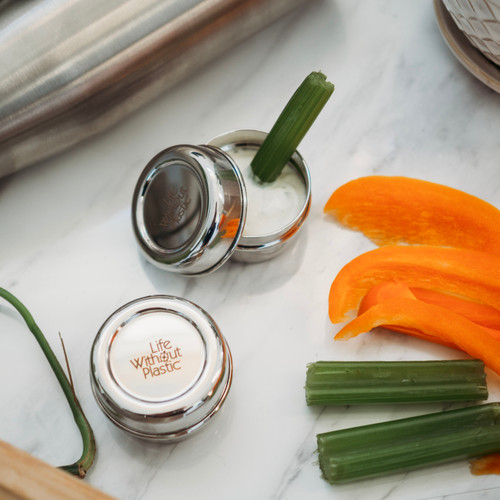 Stainless Steel Round Dip Container - celery