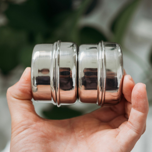 Stainless Steel Round Dip Container 2 PACK