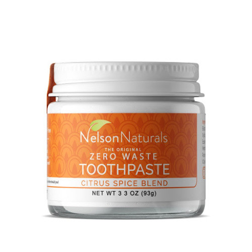 Natural Toothpaste in a Glass Jar - Citrus Spice