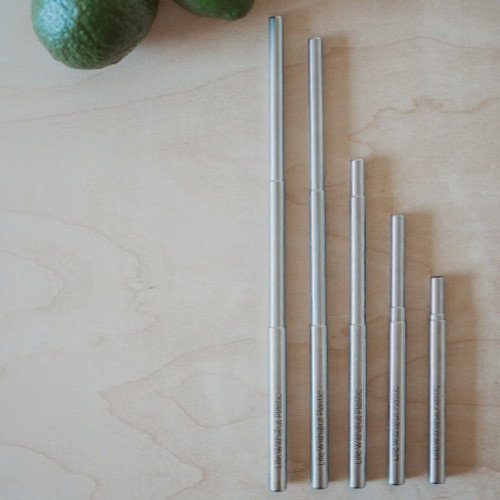 Stainless steel straw extending