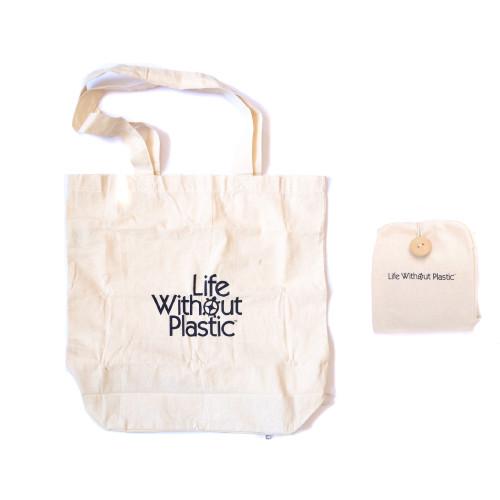Organic Cotton Flat-Bottom Compact Shopping Bag - main