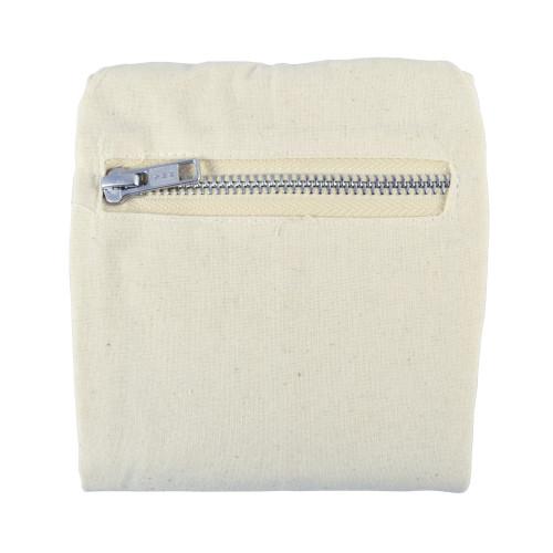 Organic Cotton Flat-Bottom Compact Shopping Bag - Bck