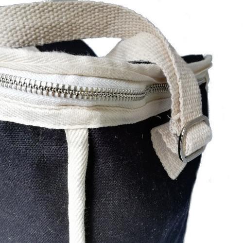 Black rectangular lunchbag side buckle