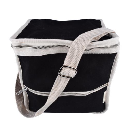 Plastic-Free Clean Lunch Bag - Square - Black