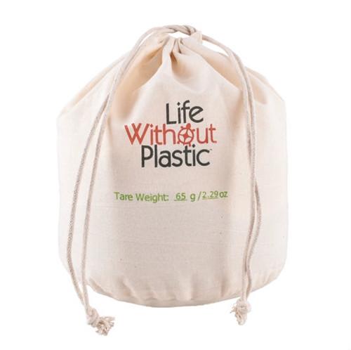 Organic Cotton Flat-Bottom Bulk Bag -  large closed