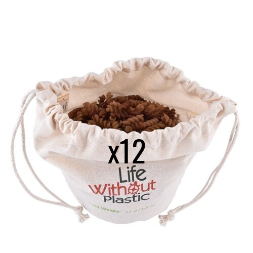 Organic Cotton Flat-Bottom Bulk Bag -  case