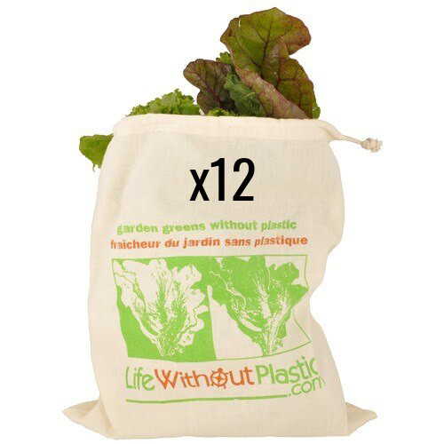 Case of 12 - Greens Bag - Certified Organic Cotton