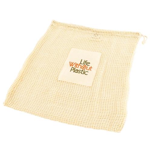 Case of 12 - Organic Cotton Mesh Plastic Free Produce Bag - Large