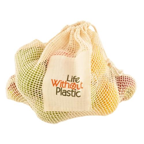 Organic Cotton Mesh Plastic Free Produce Bag - Large - Citrus