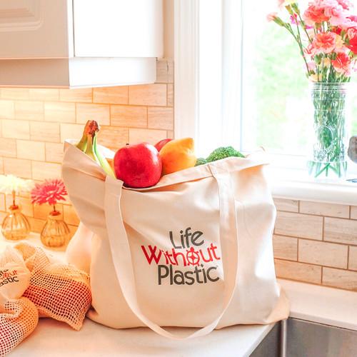 Organic Cotton Plastic Free Portable Shopping Bag