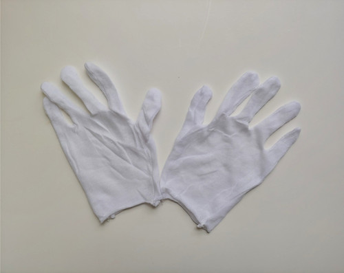Plastic-free Cotton Gloves - Pack of 6 Pairs - Small