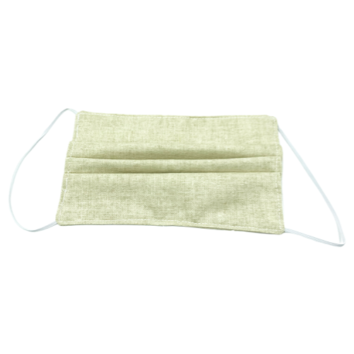 Cotton linen face mask (front)