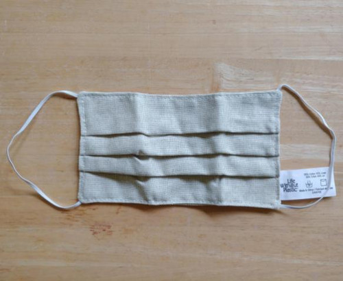 Cotton linen face mask without plastic