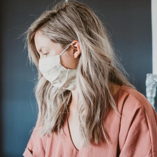 Cotton linen face mask without plastic