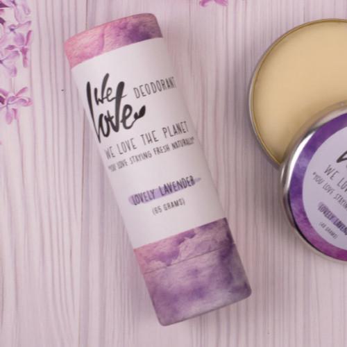 Plastic-Free Deodorant Stick - Lovely Lavender - Context