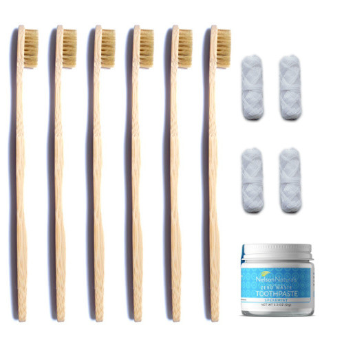 compostable toothbrush and floss - replacement boxes