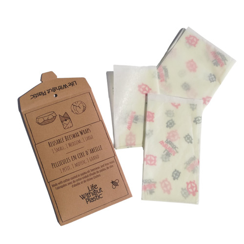 Plastic-Free Cotton and Beeswax Food Wraps packaging