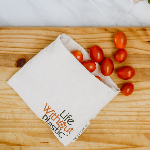 Organic Cotton Flip Bag - small - tomatoes