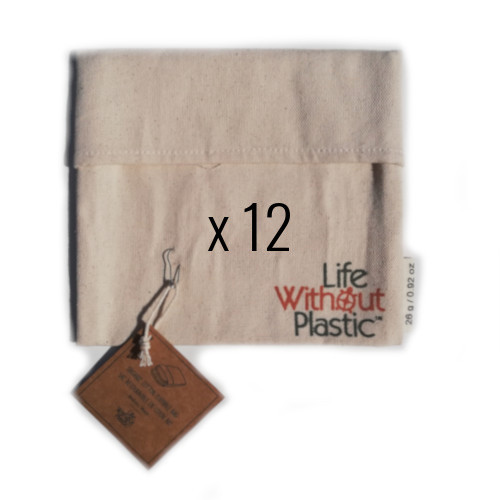 Case of 12 - Organic Cotton Flip Bag - medium