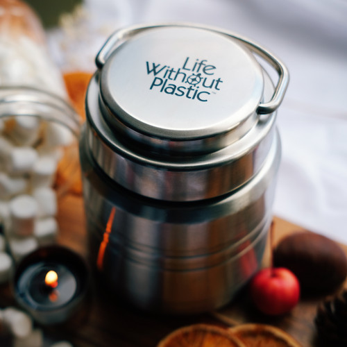 Vacuum Insulated Stainless Steel Flask side view