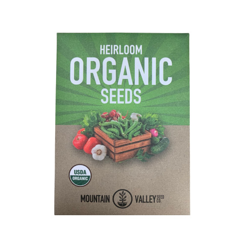 Organic Alfalfa Sprouting Seeds - front of packet