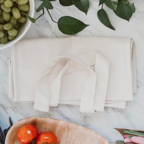 Organic Cotton Tote for Bulk Shopping - folded view